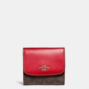 Small Wallet In Signature Coated Canvas
